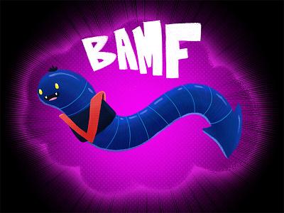 Nightcrawler illustration photoshop nightcrawler worm bamf