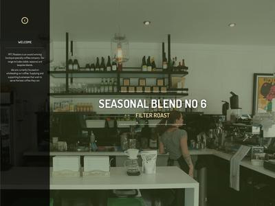 Cafe/Coffee homepage
