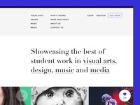 Student work - a showcase website