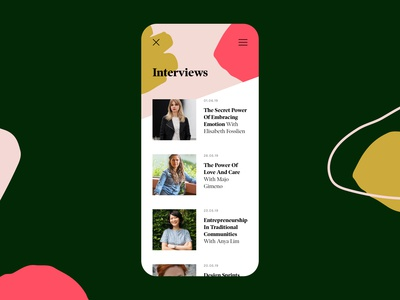 Blog listing on mobile