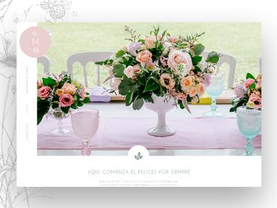 Wedding Designer Website typography ui design interface
