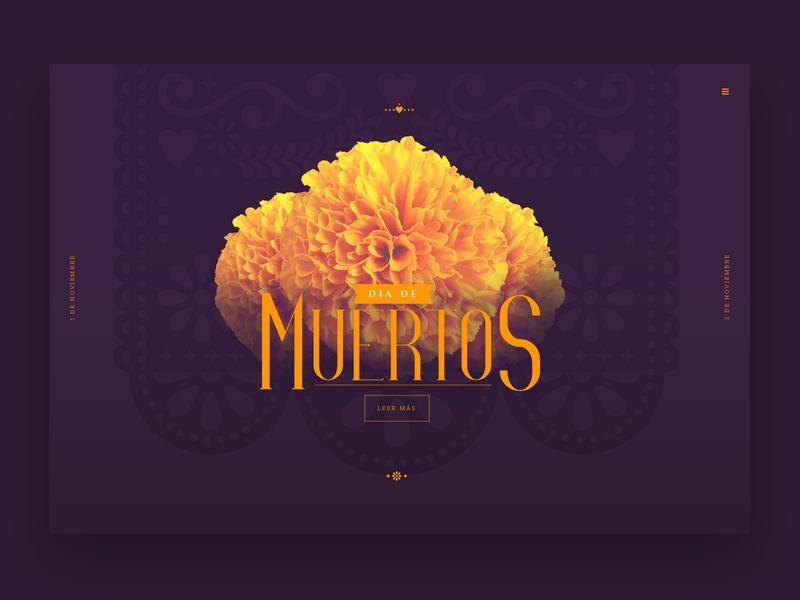 Dia de Muertos ux design ui interface