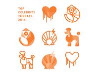 Celebrity threats of 2014