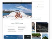 Amanecer Yacht — Web design