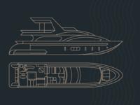 Amanecer Yacht — Boat Illustration