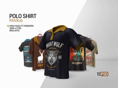 Polo Shirt Mockup product polo shirt polo mockup polo mock-up photo-realistic photo pattern multi side mockup male polo male highres fashion design colorable clothing apparel 3d