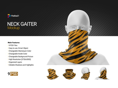 Neck Gaiter Mock-up product printed print necking neckerchief necker neck mockup mock-up mock head gift gaiter fleece fashion etsy cold apparel adventure accessories