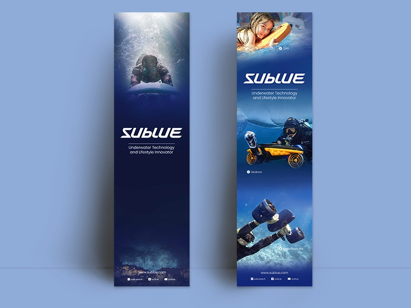 Sublue Banner brand branding poster design