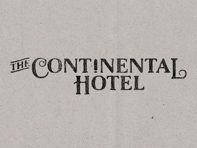 The Continental Hotel - Type Experimentation