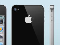 Iphone4 Photorealistic Photoshop project