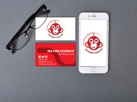 Red Monkey Creatives business cards
