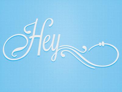 Hey lost type typography script grid texture debut dribbble