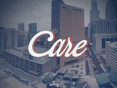 Care typography script care chicago prison break photography panoramic