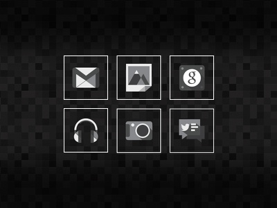 Google-cons google icons android minimal grayscale black white gray simple clean iconography system flat android ui