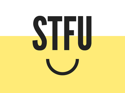 STFU - Visual Identity type logo visual identity app