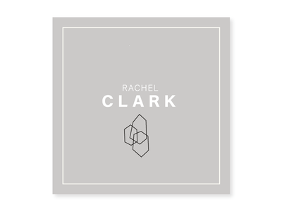 Rachel Clark - Business Cards grey monogram logo logotype minimal mountains business cards
