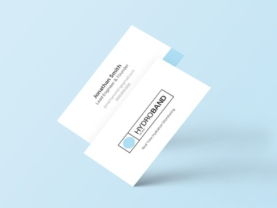 Hydroband Business Cards health blue print wearable tech wearable business cards water