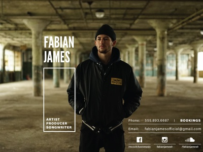 Fabian James Promo milwaukee millennial music