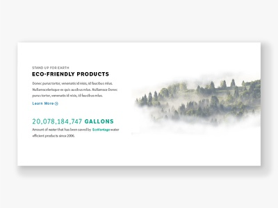 Eco-Friendly Products sustainability eco green typography web design website