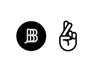 Fingers Crossed fingers crossed hand bold simple white black icon logo