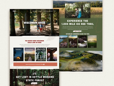 Hiking Page hiking adventure ourdoors nature ui design website web design
