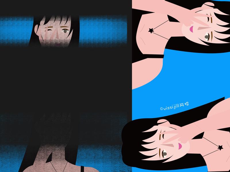 higril graphic  design graphic girl art lifestyle artwork design illustration