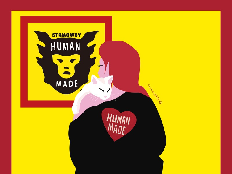 humanmadegirl fashion cat graphic artwork design illustration
