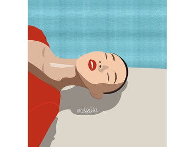 lying under the sun sunshine xiaowenju graphic art fashion lifestyle artwork design illustration