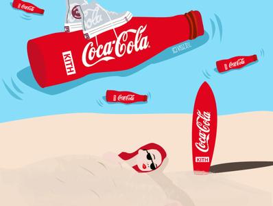 cocacola x kith sea beach cocacola kith graphic art fashion artwork design illustration