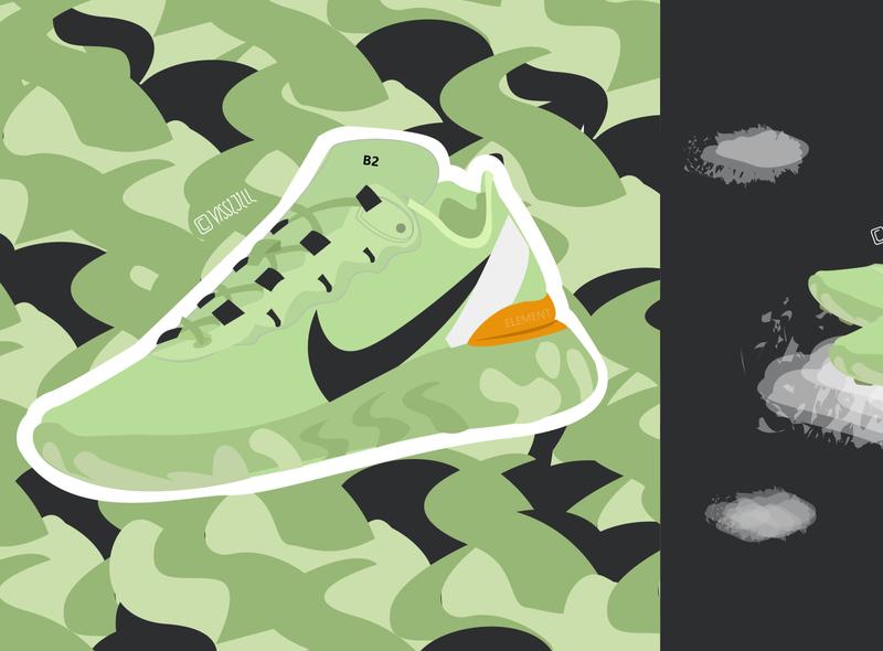 「B2-FERA」 sneakerillustration sneaker graphic art fashion artwork design nike react illustration nike
