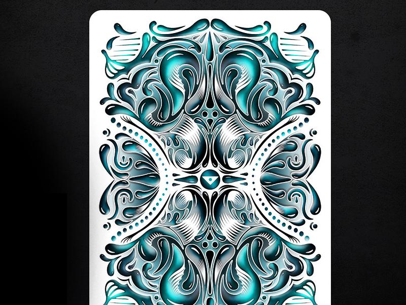 Fathom Playing Cards ellusionist cards playing cards deck custom fathom back design water element kenzii poker magic lee mckenzie