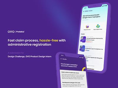 OVO | Proteksi - Redesign Study Case ux research design app ui ux ux ui
