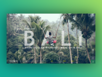 Explore Bali - Landing page