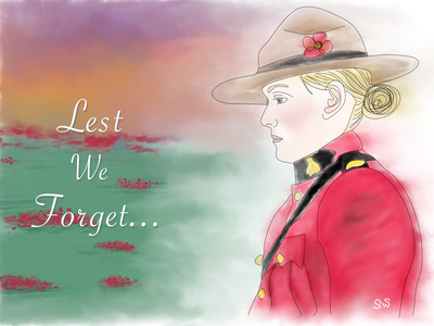 Remembrance Day 2020 typography artwork painting watercolour freehand lestweforget red poppy digital art affinity designer illustration ww1 remembrance day