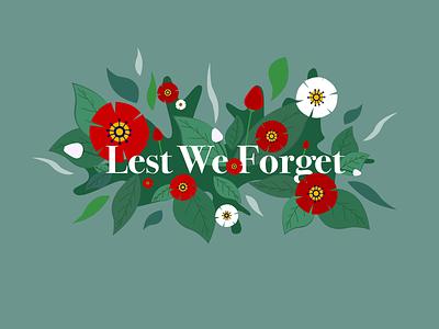 Remembrance Day peace symbol flowers flower illustration poppy remembrance typography digital art design vector illustration affinity designer