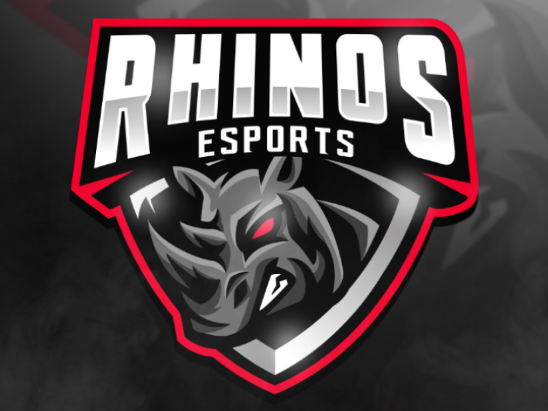 RHINOS ESPORTS streamlogo overlays ux ui gaming mascot graphicdesign esport sports logo