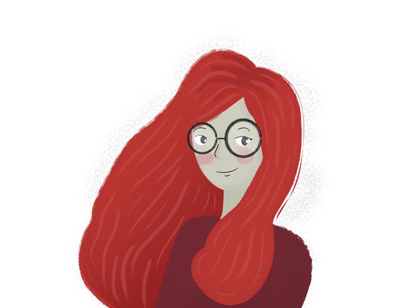 Red Head portrait red hair red head graphic design flat design design illustration illustrator girl illustration cute vector artwork art