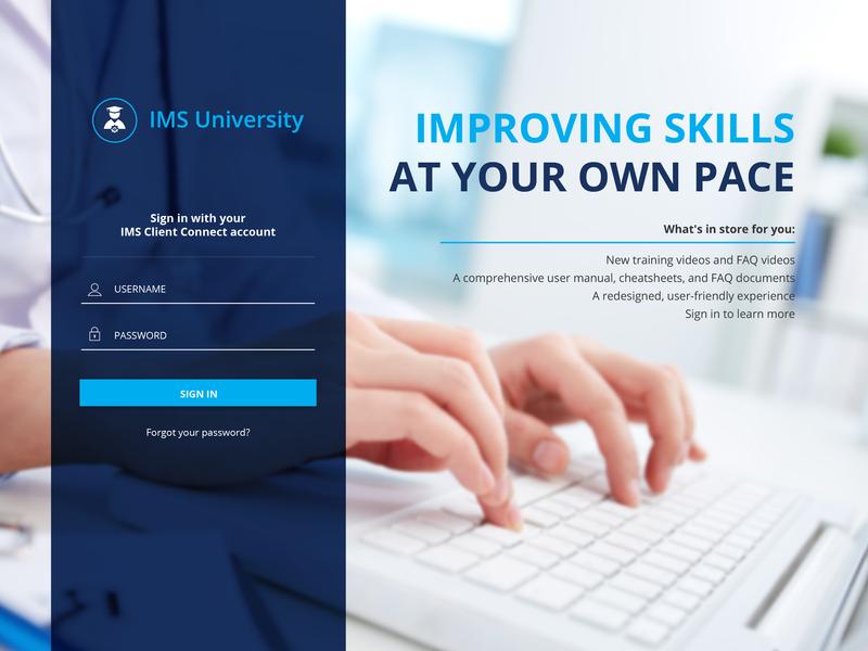 IMS University Login Page ux designer ui designer web designer login page login form login login design web design illustrator graphic design