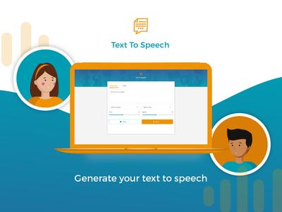 Text to Speech Web App graphic designer web application design web application web app web designer ui designer ui girl illustration design illustrator illustration graphic design