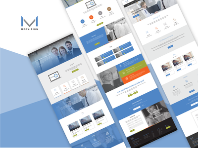 Medvision Corporate Landing Page Design graphic designer ux designer corporate branding landing page concept landing landing page web design company web design ux branding ui ui designer web designer illustrator graphic design