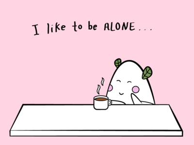 I like to be alone... With you! character concept character design character art comic book art comic art comic cute art artwork illustration design illustrator graphic design