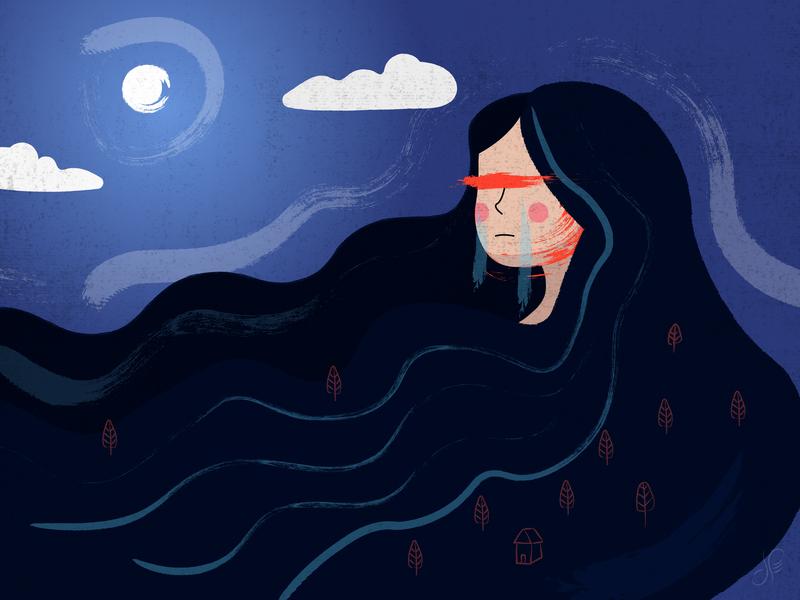 I Am Not Home girl illustration art artwork illustration design illustrator graphic design