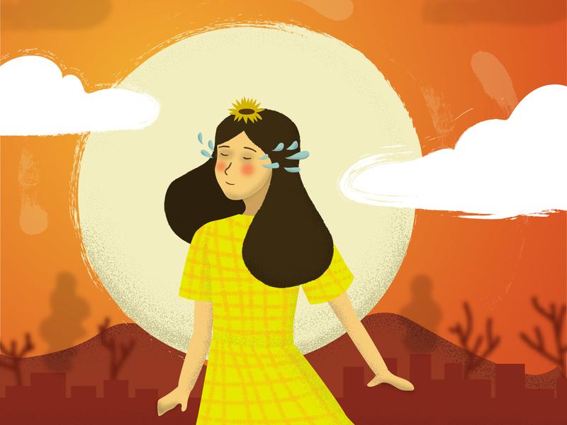 Summer Depression vector girl illustration art artwork illustration design illustrator graphic design