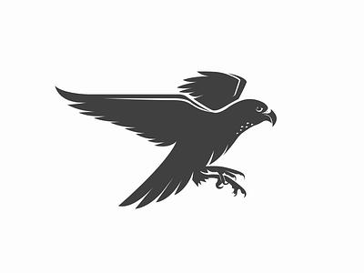 Falcon Logo design simple idea gray falcon icon design logo