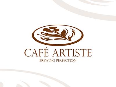 Cafe Artiste logo design tasy coffee graphicart art graphicdesign design idea random logo
