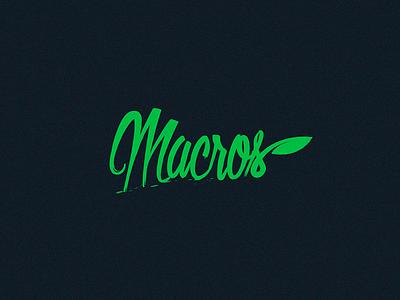 Counting Macros natrual leave green clean simple design logo counting macros