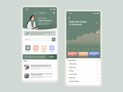 Corona Realtime Tracking App UI