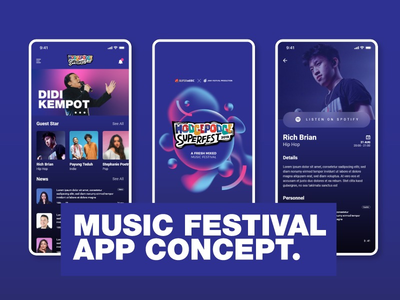 A Music Festival App Concept