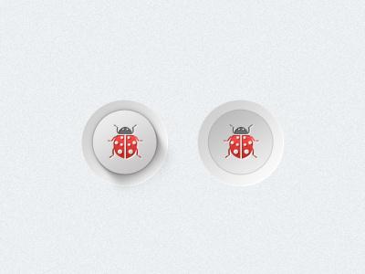 Ladybird ladybird button digital ui web