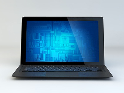 Laptop laptop notebook 3d microsoft screen digital